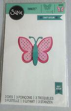 Sizzix Thinlits dulce mariposa 3 Die establecidas por Craft asilo 660802