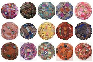 """22"""" Indian Wholesale Lots Patchwork Round Floor Cushion Home Decor Covers 25 Pcs"""