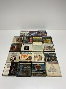 19 LOT 4-Track Reel to Reel Tapes Pop Classical Percy Faith Mantovani & others!