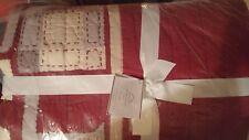 Pottery Barn Sentiment Patchwork Full queen quilt Christmas + 2 standard shams
