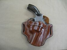 "Ruger GP100 Revolver 3"" Barrel Leather 2 Slot Pancake Belt Holster CCW TAN RH"