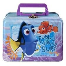 Disney Finding Dory Nemo Rectangle Metal Tin Box Handle and Clasp