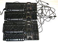 Lot of 7pcs OEM DELL DJ331 RH659 USB Enhanced Slim Black Keyboard SK-8115 L100