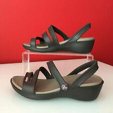 Crocs Women's Brown Sandals UK size 2 Crocs size W4 BNWOB