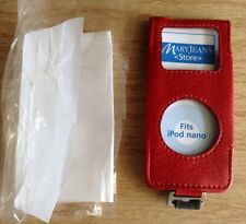 """*NEW*~""""Red Genuine Leather Case""""~Fits Apple iPodNano 1st(A1137) & 2nd(A1199) Gen"""