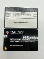 Tag Heuer Blank Watch International Guarantee Warranty Card Filled Dealer Stamp