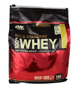 Optimum Nutrition Gold 100% Whey Protein Isolate Vanilla Ice Cream 10 lbs
