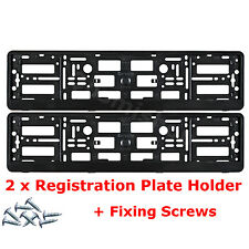 2x Black License Number Plate Holder Surround Frame for Toyota Car + Screws