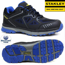 MENS STANLEY LEATHER SAFETY WORK BOOTS STEEL TOE CAP SHOES TRAINER HIKER SIZE