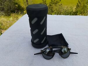 Oakley Madman Pewter Sunglasses - Black Iridium Polarized - ALMOST MINT