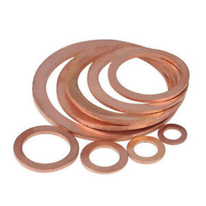 Metric Copper Sealing Washers Flat Seal Gasket Rings - All Sizes Available