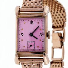 Art Deco His Excellency Academy Award 14k Pink Gold 21 Jewel 7AK Watch Ladies M