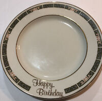 "Happy Birthday Glass Cake Plate 7"""