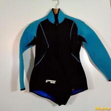 PARKWAY Design 3.2 mm USA L/S Wetsuit Shorty Wet Suit Mens L Black/aqua neoprene