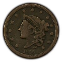 1838 1c Coronet Head Large Cent SKU-Y2616