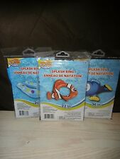 New- Lot of x3 Splash n Swim Inflatable Swim Rings & Inflatable Dolphin Pool Toy