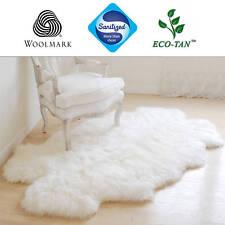 New Ultra Fleece Quad Sheepskin Rug 185cm+ Genuine Lambskin Eco-Tan Sanitized