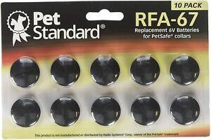 10 Piles pour PetSafe RFA-67 Compatible Collier Anti Aboiement Chien