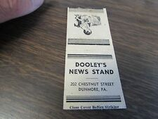 DUNMORE PA - DOOLEY'S NEWS STAND - MATCHBOOK COVER