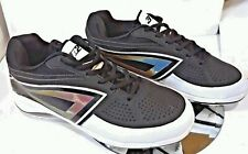3N2 Men's Lo - Pro Metal Cleats Sport Shoes Reflective Black Size 8.5 new in box