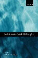 Definition in Greek Philosophy (2010, Hardcover)