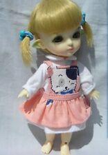 Lati Yellow Doll Outfit DOG Print pink Dress and white Dress set