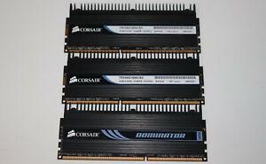 Corsair Dominator 6GB (3x2GB) 1600 MHz DDR3-1600 PC3-12800U RAM TR3X6G1600C8D