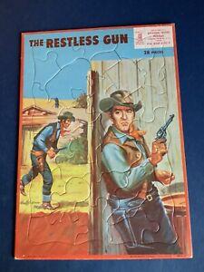 MB 1959 The Restless Gun Frame Tray Puzzle John Payne Tv Show Western