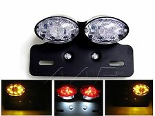 Custom CLEAR Cat Eye Motorcycle Motorbike LED Rear Stop Tail Light Trike Project