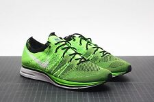 NIKE FLYKNIT TRAINER ELECTRIC GREEN/BLACK 532984-301 DS 10.5