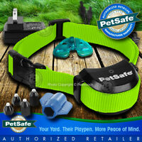 PetSafe Stay and Play Rechargeable Wireless Receiver Dog Collar Lime Green Strap