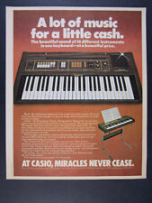 1981 Casio Casiotone 301 Keyboard Synthesizer photo vintage print Ad