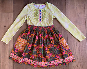 Matilda Jane Girls Long Sleeve Dress Size 8 Excellent Condition