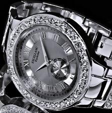 Excellanc Uhr Damenuhr Armbanduhr Anthrazit Silber Farben Strass RI 8