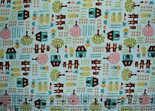 By the 1/2 yard 100% cotton fabric Moda Home Sweet Home Three Bears house girls