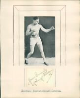 Autograph Boxer Johnny King British Bantam weight Champ1930s Original Signature
