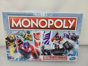 Hasbro Gaming Monopoly Transformers Edition Board Game Autobot Decepticon Tokens