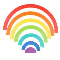 7-Piece Rainbow Stacker Geometry Building Blocks Baby Toddler Montessori Toy