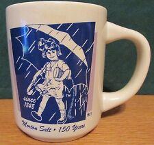 VINTAGE MORTONS SALT 150 YEARS   1921 UMBRELLA GIRL ADVERTISING COFFEE MUG CUP