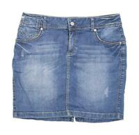 Marks & Spencer Womens Size 12 Denim Blue Skirt (Regular)