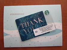 Starbucks  * 2015 THANK YOU CORP EXCLUSIVE CARD * WITH SLEEVE ~ LTD ED MINT 6118
