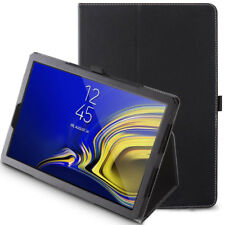 "For Samsung Galaxy Tab S4 10.5"" 2018 Case Synthetic Leather Stand Cover Black"