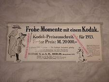 alte Werbung Reklame Anzeige Kodak Preisausschreiben Kamera Berlin von 1913