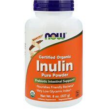 Now Foods Organic Inulin Powder - 227g - Probiotic Digestive Support - Prebiotic