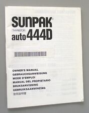 New listing Sunpak Auto 444D Instruction Manual original multi-language