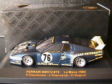 FERRARI 512 BB #76 LE MANS 1980 DIEUDONNE XHENCEVAL REGOUT IXO LMC077 1/43