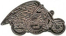 Hard Rock Cafe NASHVILLE 1995 BIKE NIGHT PIN Silver MOTORCYCLE w/Wings HRC #6202