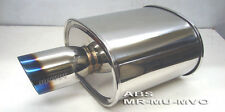 Megan Racing Universal Muffler Fits rolled titanium tip 2.5 ID MR-MU-MVO New