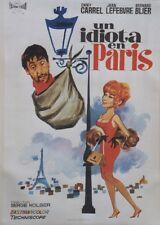 UN IDIOT A PARIS Affiche espagnole ent. Dany CARREL, Jean LEFEBVRE (TOUR EIFFEL)