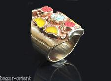 Traditioneller Tibetischer Türkis Ring tibetan turquoise ring neusilber  Nr.6